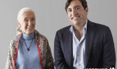 Nobel-Prize-winning anthropologist Dr. Jane Goodall with Neptune Wellness CEO Michael Cammarata. (Credit: Neptune Wellness Solutions Inc. via Facebook)