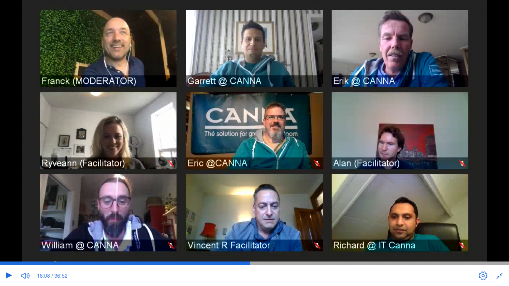 CANNA Canada hosted its first virtual events for cannabis growers on May 27 and June 3. (Credit: CANNA Canada)